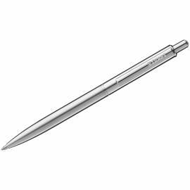 """Ручка шариковая Luxor """"Cosmic"""" синяя, 1,0мм, корпус хром, кнопочный механизм"""
