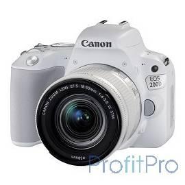 "Canon EOS 200D белый 24.2Mpix EF-S 18-55mm f/3.5-5.6 IS STM 3"" 1080p Full HD SDXC Li-ion"