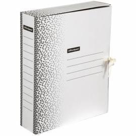 """Папка архивная из микрогофрокартона OfficeSpace """"Standard"""" плотная,с завязками, 75мм, белая, 700л."""