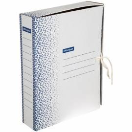 """Папка архивная из микрогофрокартона OfficeSpace """"Standard"""" плотная,с завязками, 75мм, синяя, 700л"""