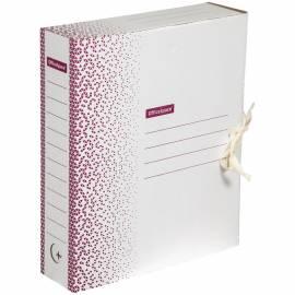 """Папка архивная из микрогофрокартона OfficeSpace """"Standard"""" плотная,с завязками, 75мм, бордо, 700л"""