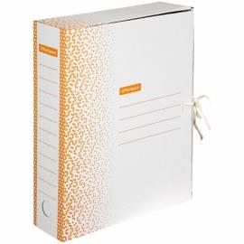 """Папка архивная из микрогофрокартона OfficeSpace """"Standard"""" плотная,с завязками, 75мм, оранжевая,700л"""