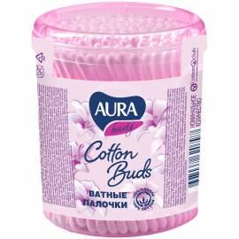 """Ватные палочки Aura """"Beauty"""", 100шт., пластиковый стакан"""