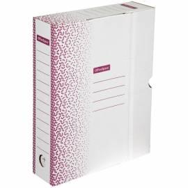 """Короб архивный с клапаном OfficeSpace """"Standard"""" плотный, микрогофрокартон, 75мм, бордо, до 700л."""