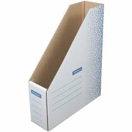 """Накопитель-лоток архивный из микрогофрокартона OfficeSpace """"Standard"""" плотный,75мм, синий, до 700л."""