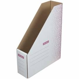 """Накопитель-лоток архивный из микрогофрокартона OfficeSpace """"Standard"""" плотный,75мм, бордо, до 700л."""