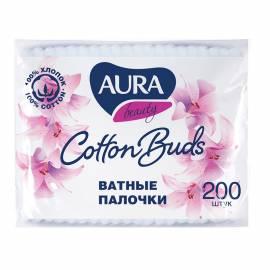 """Ватные палочки Aura """"Beauty"""", 200шт., полиэтиленовый пакет"""