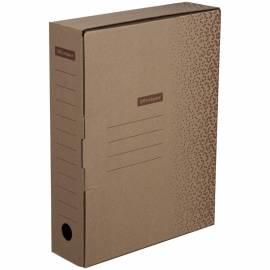"Короб архивный OfficeSpace ""Standard"" плотный, с клапаном, микрогофрокартон, 75мм, бурый, до 700л."