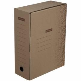 "Короб архивный OfficeSpace ""Standard"" плотный, с клапаном, микрогофрокартон, 100мм, бурый, до 900л."
