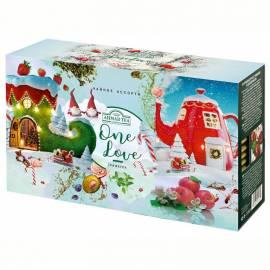 """Подарочный набор чая Ahmad Tea """"One love"""", 3 пачки, 25 пакетиков по 1,5г, картон. коробка (зимний)"""