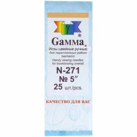 Иглы для шитья ручные Gamma N-271, 12см, 25шт. в конверте
