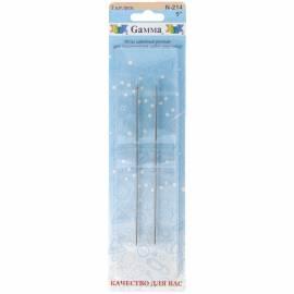 Иглы для шитья ручные Gamma N-214, 12см, 2шт. в блистере