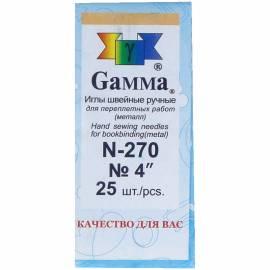 Иглы для шитья ручные Gamma N-270, 10см, 25шт. в конверте