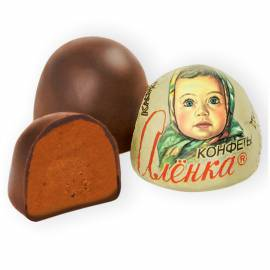 Шоколадные конфеты Красный Октябрь, Аленка, крем-брюле, купол, 250г