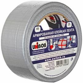 Клейкая лента армированная Unibob, 48мм*25м, серая, инд.упаковка