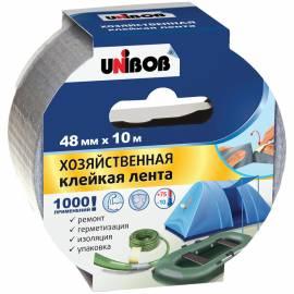 Клейкая лента хозяйственная Unibob, 48мм*10м, серая, инд.упаковка