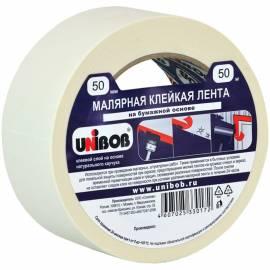 Клейкая лента малярная Unibob, 50мм*50м, инд.упаковка