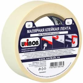 Клейкая лента малярная Unibob, 38мм*50м, инд.упаковка