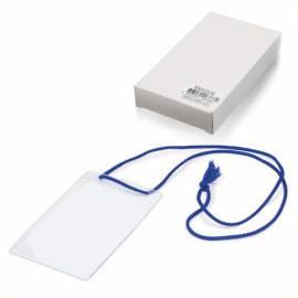 Бейдж вертикальный ДПС, 79*123мм (размер вставки 73*110мм), на синем шнурке