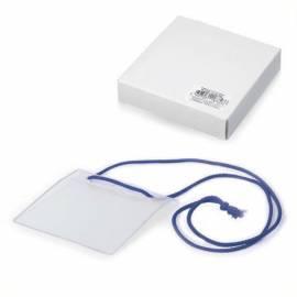 Бейдж горизонтальный ДПС, 105*93мм (размер вставки 100*74мм), на синем шнурке