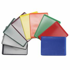 Обложка-карман для проездных документов ДПС, двусторонний, 69*92мм, ПВХ, цветной, ассорти