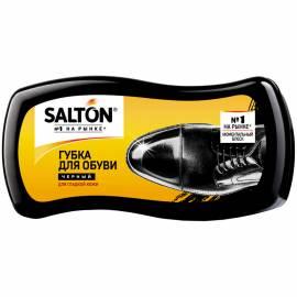 Губка для обуви Salton, волна, для гладкой кожи, черная