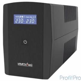 Импульс ИБП Юниор Смарт 1000 1000 ВА/600 Вт, LCD, АКБ 1х9Ач, SCHUKOx2,черный