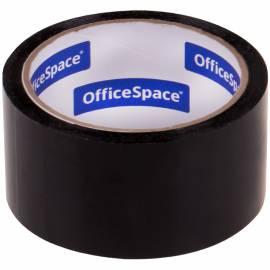 Клейкая лента упаковочная OfficeSpace, 48мм*40м, 45мкм, черная, ШК