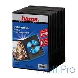 HAMA Коробка Hama H-51276 Jewel Case для DVD 10 шт. пластик черный