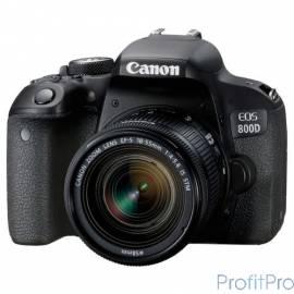 """Canon EOS 800D черный 24.2Mpix EF-S 18-55mm f/4-5.6 IS STM 3"""" 1080p Full HD SDXC Li-ion (с объективом)"""