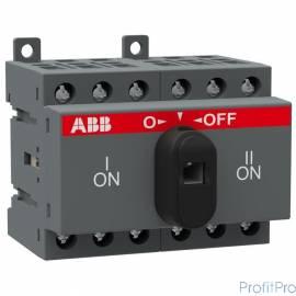 АВВ 1SCA104816R1001 Реверсивный рубильник OT16F3C до 16А 3х-полюсный для установки на DIN-рейку или монтажную плату (с резерв.