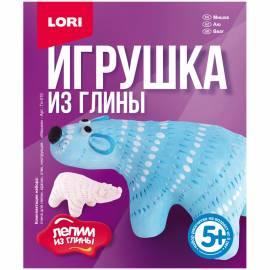 """Набор для изготовления игрушек из глины Lori """"Лепим из глины. Мишка"""", от 5-ти лет, картон"""