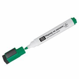 Маркер для белых досок на магните OfficeSpace, зеленый, пулевидный, 3мм