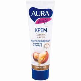 """Крем для рук Aura """"Beauty"""", восстанавливающий с маслом ши, 75мл"""