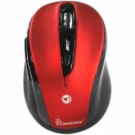 Мышь беспроводная Smartbuy 612AG, бесшумная работа кнопок, красный, 5btn+Roll