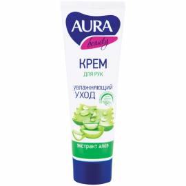 """Крем для рук Aura """"Beauty"""", увлажняющий с глицерином и экстрактом алоэ, 75мл"""