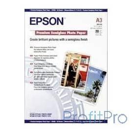 EPSON C13S041334 EPSON Полуглянцевая фотобумага A3, 20 л.
