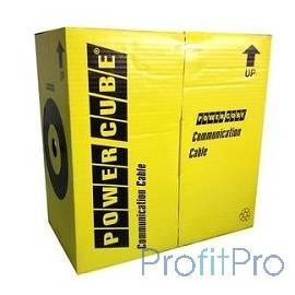 PowerCube [PC-UPC-5051E-SO-OUTR] Кабель UTP кат.5e, 4 пары, 0.51 мм (305 м pullbox), МЕДЬ одножильный на катушк, внешний с трос