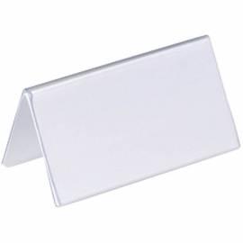 Настольный держатель именных карточек 52/104*100 мм, двусторонний, пластик