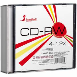 Диск CD-RW 700Mb Smart Track 4-12x Slim Sl-5