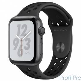 Apple Watch Nike+ Series 4, 40 мм, корпус из алюминия цвета «серый космос», спортивный ремешок Nike цвета «антрацитовый/чёрный»