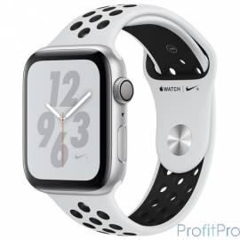 Apple Watch Nike+ Series 4, 40 мм, корпус из алюминия серебристого цвета, спортивный ремешок Nike цвета «чистая платина/чёрный»