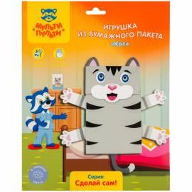 """Набор для творчества Мульти-Пульти - Игрушка из бумажного пакета """"Кот"""""""