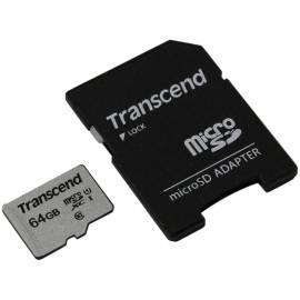 Карта памяти Transcend MicroSDXC 64Gb, Class 10 UHS-I U-1, скорость чтения 95Мб/сек (с адаптером SD)