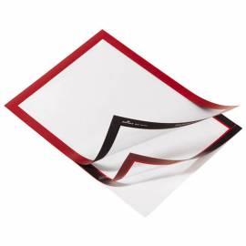 """Самоклеящаяся информационная магнитная рамка """"Magaframe"""" А4, красная"""
