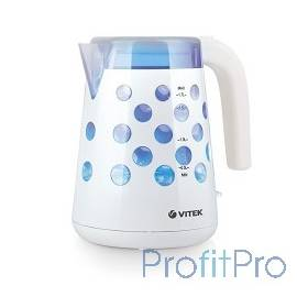 Чайник VITEK VT-7048(W) 1850-2200Вт, 1.7л Корпус из высококач.термост.пластика.