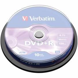 Диск DVD+R 4.7Gb Verbatim 16x Cake Box (10шт)