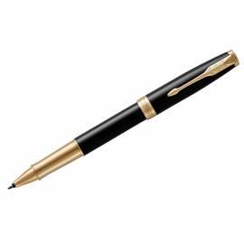 """Ручка-роллер Parker """"Sonnet Black Lacquer GT"""" черная, 0,8мм, подар. уп."""