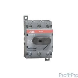 АВВ 1SCA105332R1001 Рубильник OT63F3 до 63А 3х-полюсный для установки на DIN-рейку или монтажную плату (с резерв. ручкой)