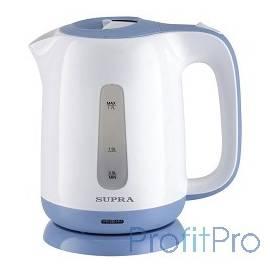 Чайники SUPRA KES-1724 white/blue, 1.7 л., 2200Вт, пластик